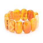 """Браслет """"Афина-2"""" из натурального оранжевого агата"""