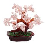 Дерево счастья розовый кварц, высота 18см