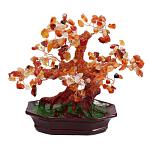 Дерево счастья сердолик, высота 18см